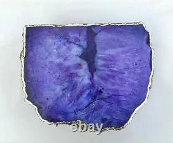 Purple Agate Cake Stand Centrepiece Display Stand Tray For Birthday Occasion