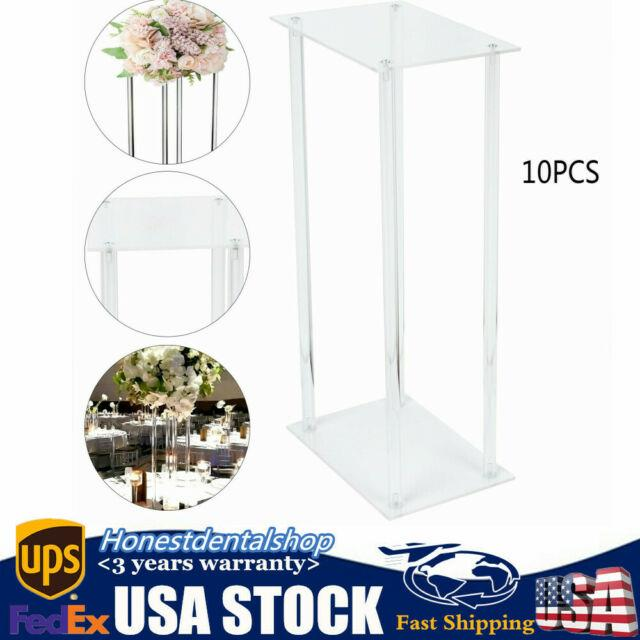 Rectangle Acrylic Wedding Flower Stand For Table Centerpiece Decoration Wedding