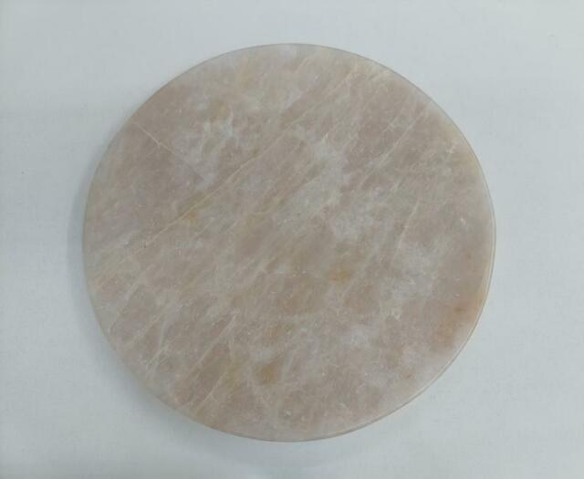 Rose Quartz Tray Table Centerpiece Round Large 14 For Bridal Shower Or Gifts