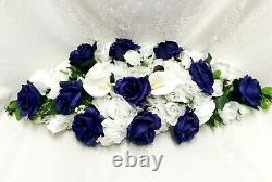 Royal Blue Swag 30 Arch Table Centerpiece Silk Wedding Flowers Artificial Lily