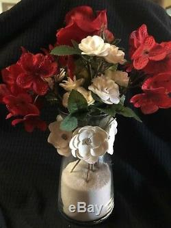 Set of 20 wedding decorations table center piece Flower Red Vase