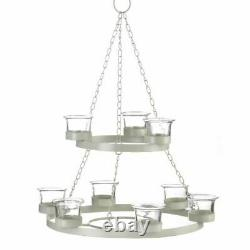 Shabby Chic Chandelier Coffee Table Centerpiece Candle Holder Kitchen Tealight