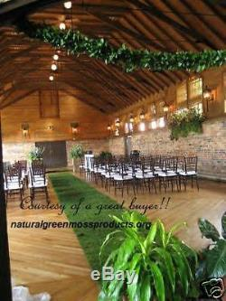 Sheet Moss runner 4'x20' enchanted forest wedding reception cake table gift