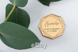 Silver or Gold Mirror Acrylic Table Name, Octagon Place Setting, Wedding Names