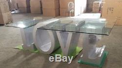 Stainless Steel LOVE table wedding decor