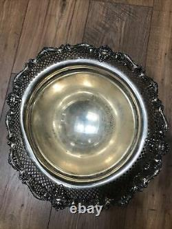Sterling Silver 14 Inch Table Centerpiece, Black, Starr & Frost, New York, c. 1890