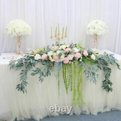Table Flowers Roses Artificial Plants Centerpiece Home Wedding Decorations Fake