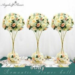 Table Roses Artificial Flowers Ball Plants Decorations Wedding Silk Centerpiece