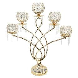 Tealight Candle Crystal Candlestick Wedding Decor Table Centerpieces