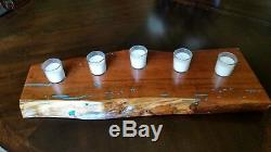 Texas Mesquite with inlaid Turquoise Table or Accent Center Piece