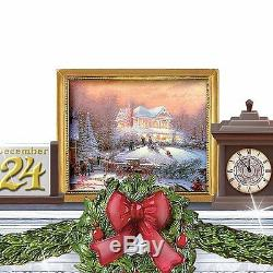 Thomas Kinkade The Warm Glow of Christmas Table Centerpiece Musical Lighted NEW