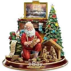 Thomas Kinkade True Meaning of Christmas Table Centerpiece Talking Lighted NEW