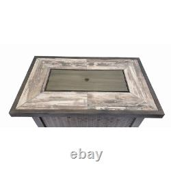 Valencia Rectangular Fire Pit Table 42.5 x 26.5 centerpiece for your patio