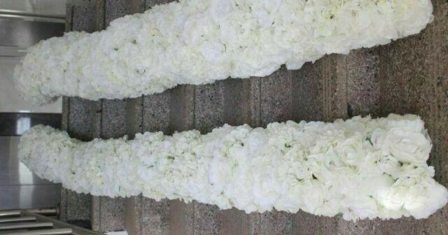 Wedding Artificial Flower Stage Backdrop Decoration Table Centerpiece 2m/lot New