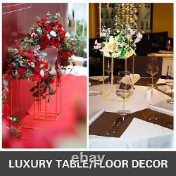 Wedding Flower Stand Metal Vase Stand Road Lead 11pc Gold Centerpiece Xmas Party