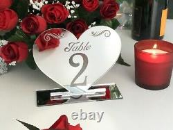 Wedding table numbers silver acrylic. Gold, rose gold, clear, purple, red