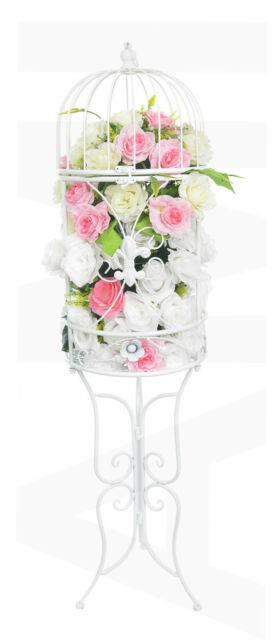White Decorative Wedding Birdcage With Stand Xx Large Table Venue Decorations
