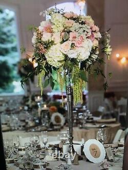 White Shabby Chic With Burlap Table Numbers 1- 25 Wedding