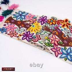 White table runner from Peru, Table linens wedding, Home Decor Table Centerpiece