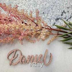 Wooden Cut Out Names, Wooden Wedding Place Name, Wooden Table Name
